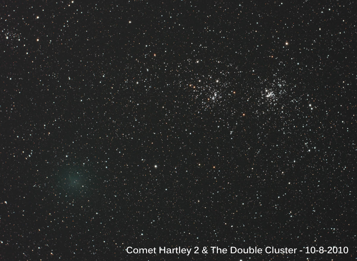 Comet Hartley 2 & The Double Cluster