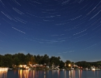 Startrails over Lake Winola